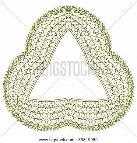 Vector guilloche rosette