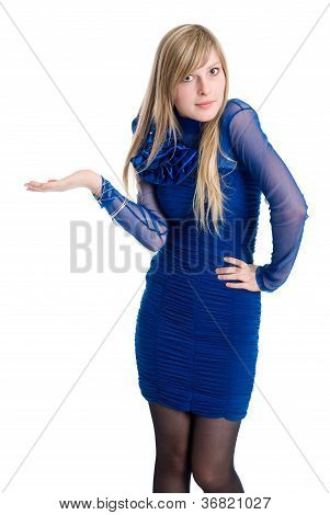 Shocked Or Surpised Young Woman With Long Blond Hair