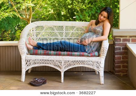 Pregnant Woman Relaxing