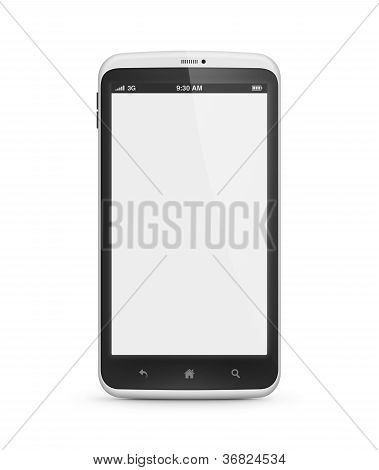 Mobile Phone With Blank Screen Isolated