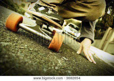 Crouching Skater
