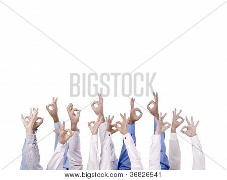 Diverse Group With Three Fingers