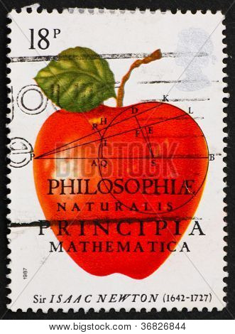 Postage Stamp Usa 1982 Sir Isaac Newton
