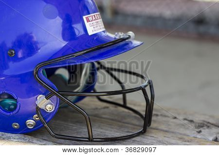 Blue Batting Cage Helmet