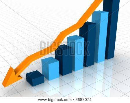 3D Business Decline Graph