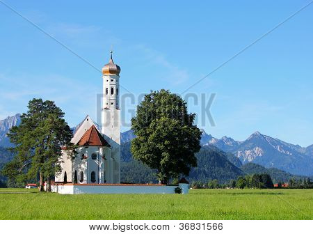 St. Coloman Church, Near Fussen, Bavaria, Germany
