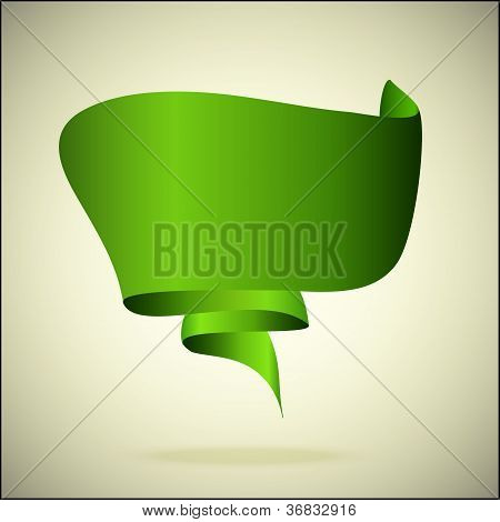 green speech bubble a