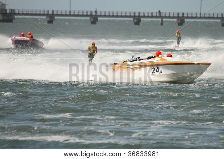Brisbane, Australia - September 15 : Team 24 And Steven Robertson In Australian Water Ski Racing Cha