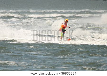 Brisbane, Australia - September 15 : Trudi Stout In Australian Water Ski Racing Championship On Sept