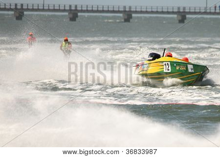 Brisbane, Australia - September 15 : Team Xxx Wild In Australian Water Ski Racing Championship On Se