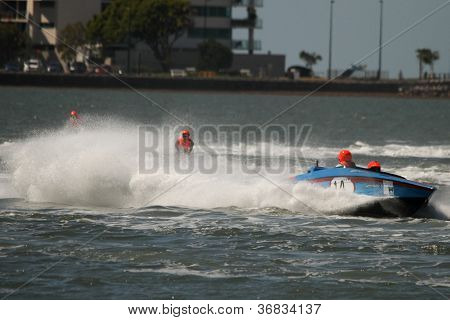 Brisbane, Australia - September 15 : Team Merc Force In Australian Water Ski Racing Championship On