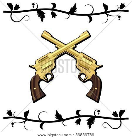 Gold Crossed Guns