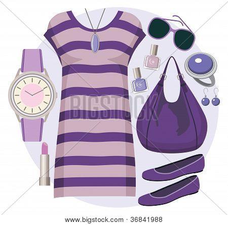 Conjunto de moda com uma túnica