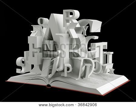 Book and alphabet