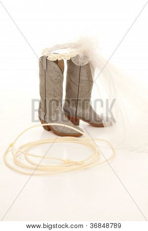 Rope Boots Veil