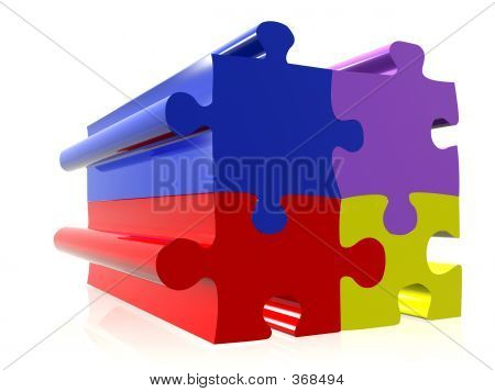 Coloured Puzzle Pieces