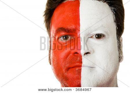 Fan In Face Paint