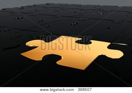 Golden Puzzle Piece - Make The Difference