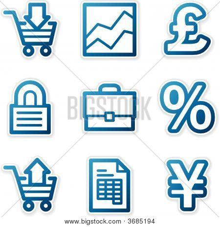 E-Business Icons, Blue Contour Series