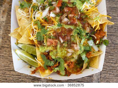 Guacamole Meat Nachos