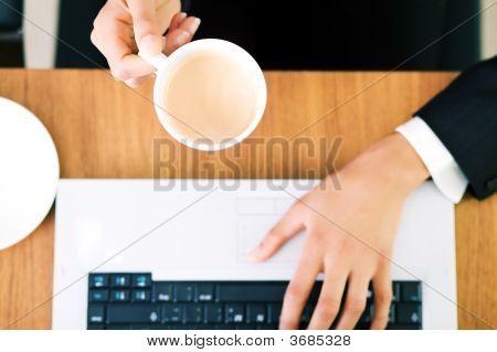 Espresso At Laptop