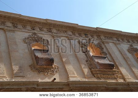 The baroque windows in Noto