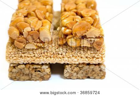 Sesame Seed Brittle - Kozinaki, Candied Roasted Sunflower�s Seeds, Peanuts And Til In Icing Sugar