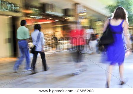 Compras em um shopping
