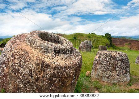 Plain Of Jars, Phonsavan,  Xieng Khuang Province, Laos.