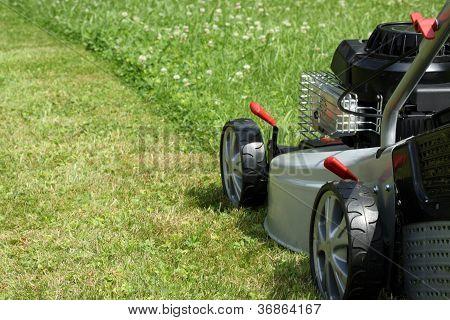 Silver Lawn Mower.