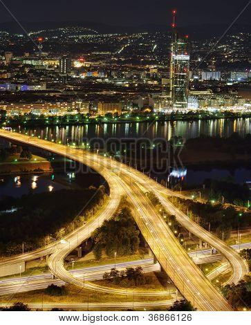 Vienna city at night
