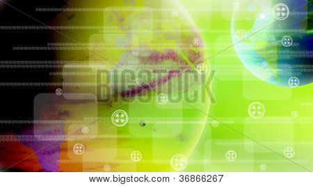 abstract the world technology background