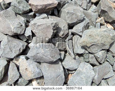 schwarzen Felsen