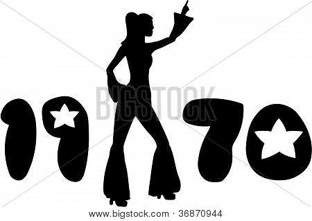 Retrô anos 70 mulher
