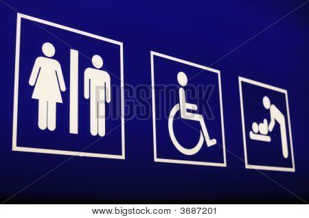 Airport Washroom Sign