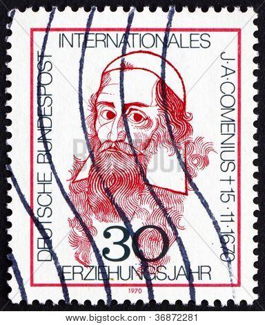 Postage stamp Germany 1970 John Amos Comenius