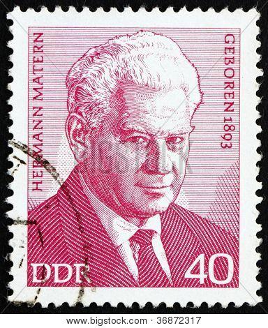 Postage stamp GDR 1973 Hermann Matern, Vice-president of DDR