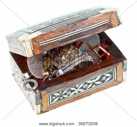 Treasure Chest With Jewels
