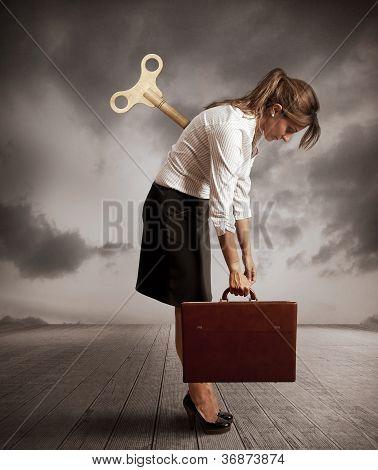 Tired Businesswoman
