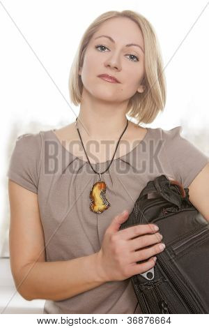 Girl With A Brief Case