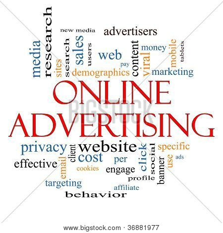 Online Advertising Word Cloud Concept