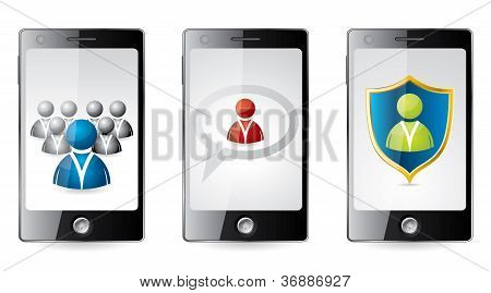 Smartphone With Social Media Icons