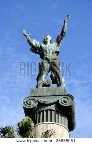 Victory statue in Puerto Banus Spain