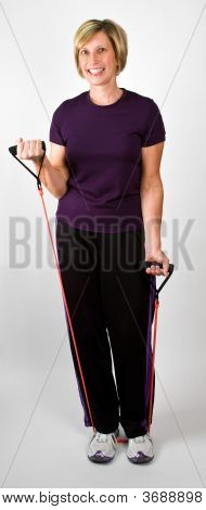 Physically Fit Senior Baby Boomer Women