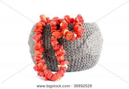 Armband und Korallen Perlen