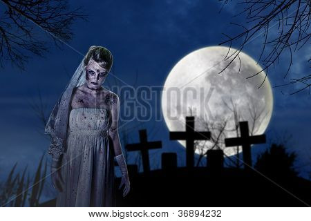 Creepy Zombie Bride