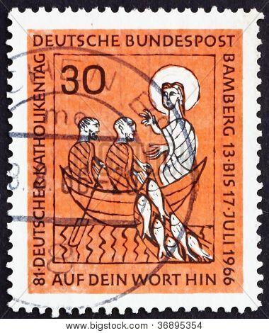 Postage stamp Germany 1966 The Miraculous Draught