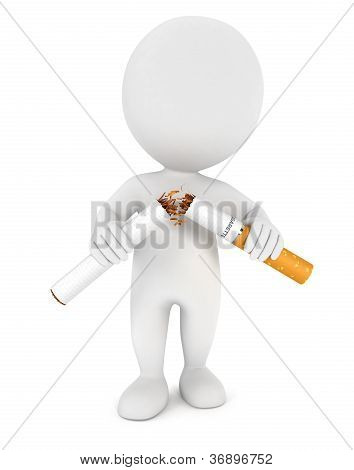 3d white people stopped smoking