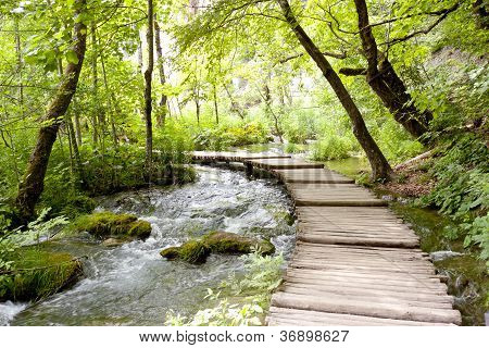 Plitvice Lakes - Wooden Pathway.