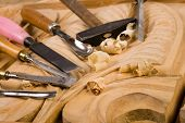 stock photo of woodcarving  - Carpenter - JPG